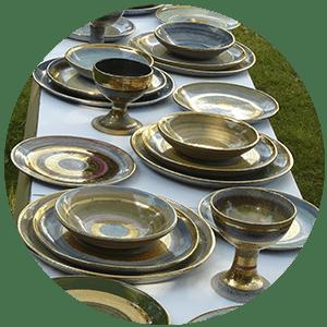 Piatti ceramica, oro